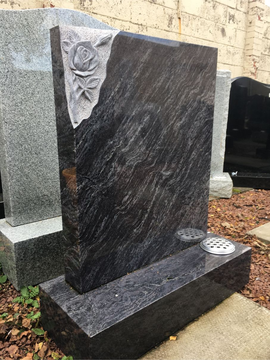 Carved Rose Stone Monument