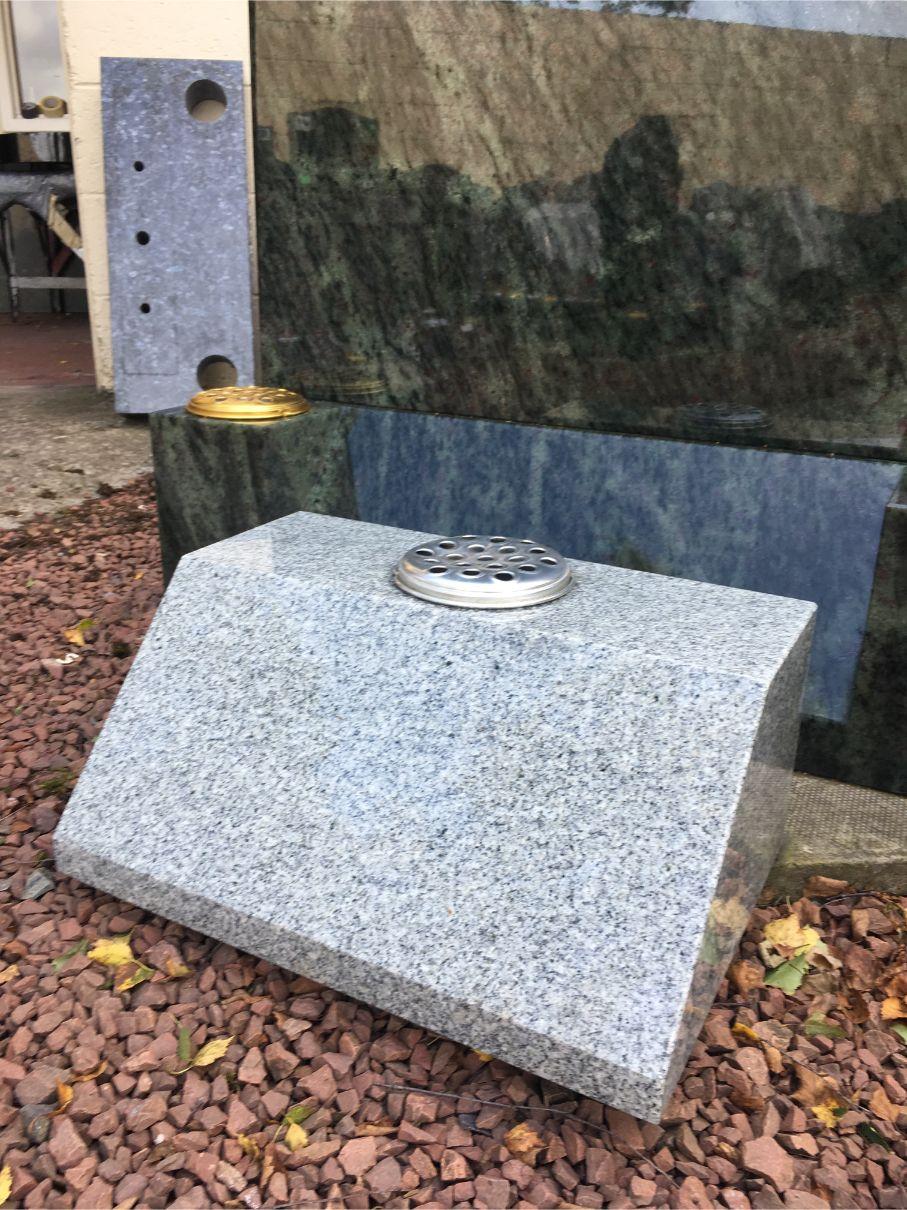 Large Scottish Grey Sloping Marker
